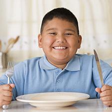 repas de l'enfant obèse